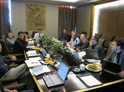 Neil Mitchell, head of the ITER Magnet Division, chairing the review meeting in Xi'an. (Click to view larger version...)